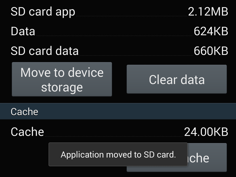 App-to-sdcard