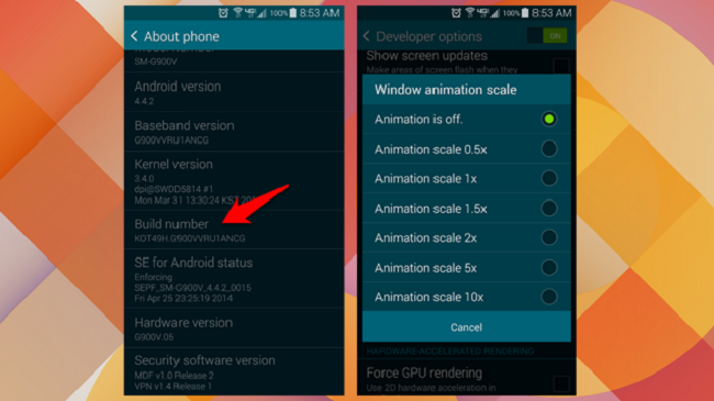 animations on the Android Smartphone