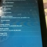 Acer Iconia A1-713 about tab
