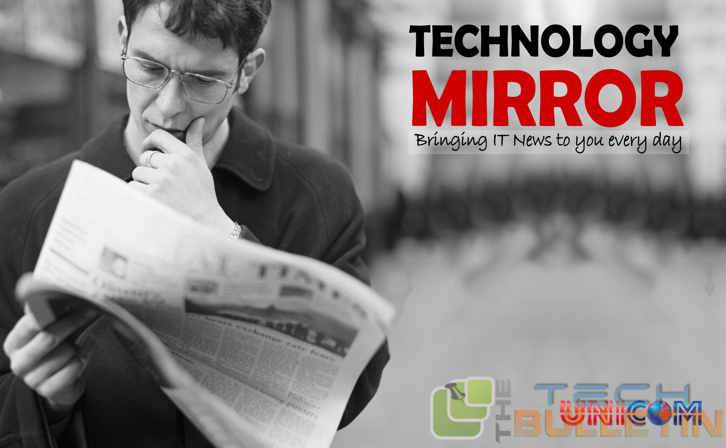 Technology Mirror-reading-newspaper