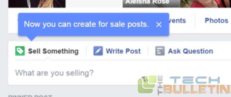 Sell feature on facebook