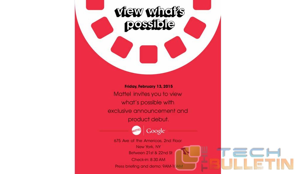 Google and Mattel invite