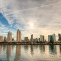 Skyline of San Diego, California on a bright sunny day.