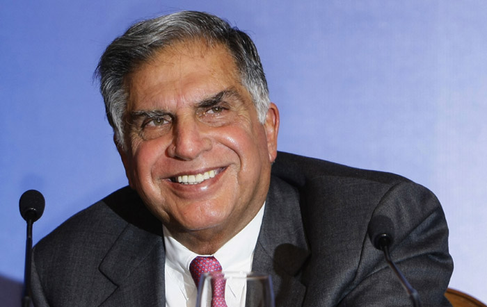 Tata Sons Chairman Ratan Tata reacts as he speaks during a press conference prior to the launch event of the Tata Nano in Mumbai, India, Monday, March 23, 2009. Tata Motors is launching its snub-nosed, US$2,000 Nano Monday in Mumbai, a vehicle meant to put car ownership within reach of millions of the world's poor. The Nano, starting at about 100,000 rupees (US$1,980), is 10.2 feet (3.1 meters) long, has one windshield wiper, a 623cc rear engine, and a diminutive trunk, according to the company's Web site. (AP Photo/Gautam Singh)