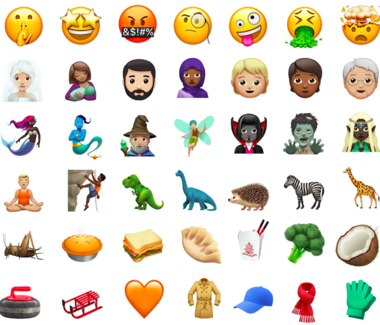 updated iphone emojis apple reveals the new emojis with ios 11 update the tech 13202